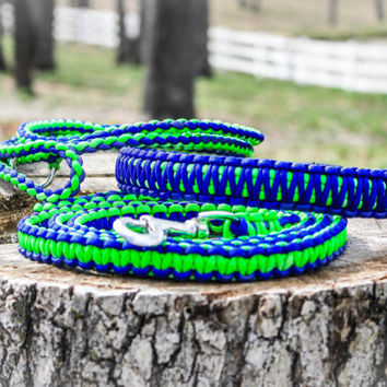 3 piece SALE - 550 paracord collar, 6' slip lead and 6' leash - save when you buy all three