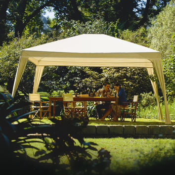 12-Ft x 10-Ft Folding Gazebo with Carry Bag in Camel
