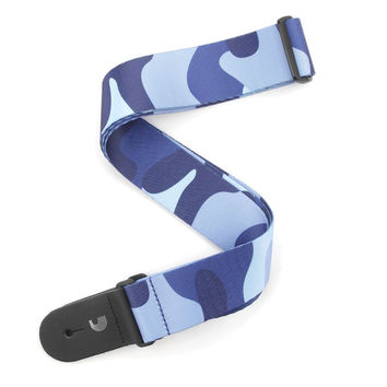 "Planet Waves P20W1404 2"" Woven Guitar Strap, Camo - Blue"