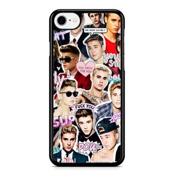 Justin Bieber Collage iPhone 8 Case