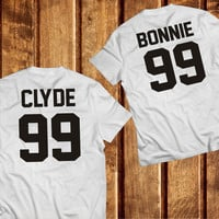 Bonnie and Clyde Couples Shirts, Bonnie and Clyde Shirts, White 100% Cotton Matching Tshirts