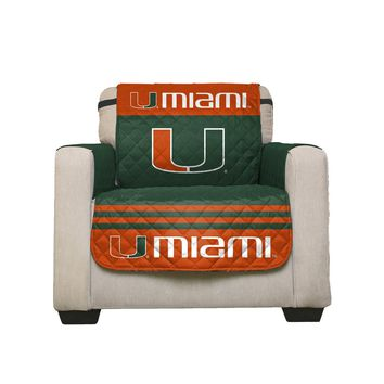 Miami Hurricanes Home Game Reversible Chair Cover