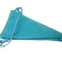 Nakpunar - Baby Blue Cone Shape Organza Favor Bags - Wedding Favor, Baby Shower Favor, Party Bags