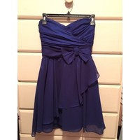 Blue Homecoming Dress With Bow