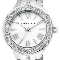 Women's Anne Klein Crystal Accent Bracelet Watch, 30mm