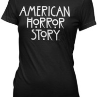 American Horror Story Juniors T-Shirt TV Show Logo Black Tee Shirt