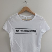 High-Functioning Sociopath Graphic Crop Top - Sherlock Inspired
