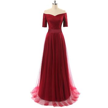 In Stock A-Line V-Neck Organza Short Evening Dresses Off the Shoulder Party Dress Ruched Sashes Pleat Elegant Party Dress