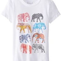Billabong Big Girls' Snake Charmers T-Shirt, White, Medium