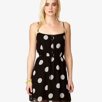 Polka Dot Drawstring Dress