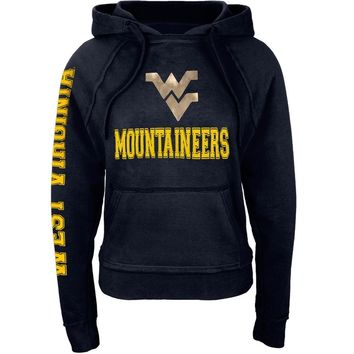 West Virginia Mountaineers - Foil Logo Juniors Pullover Hoodie