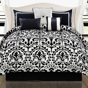 Beckie 7-pc. Comforter Set (Black)