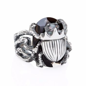 LITTLE SCARAB COCKTAIL RING