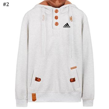 ADIDAS autumn and winter new men's hooded fashion casual sweater #2