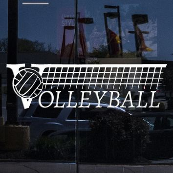 Window Sign Decal Volleyball Logo Sport School Ball Player Vinyl Wall Stickers Unique Gift (2017igw)