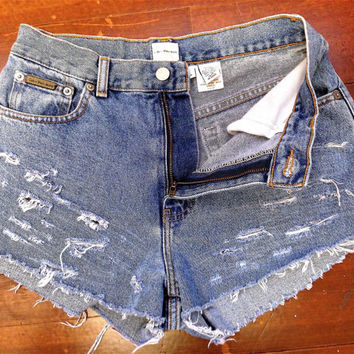 Calvin Klein HighWaisted Cutoffs SZ 6/8
