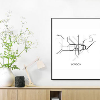 Nyc Subway Map Canvas Wall Art.Shop Subway Map Print On Wanelo
