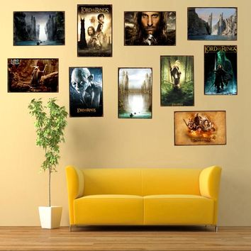 The lord of the Rings Classic Movie Tin Sign Metal Plate  Kids Room Wall Bar Cafe  Home Art Craft Decor 30X20CM DU-1373