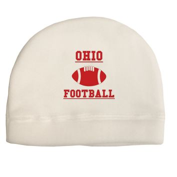 Ohio Football Adult Fleece Beanie Cap Hat by TooLoud
