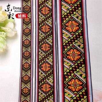 10yards*5cm Creative Ribbons National Style Digital Jacquard Woven Ribbon DIY Sewing Supplies Handmade Curtain  Accessories