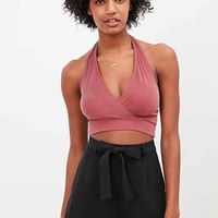 Silence + Noise Dillon Surplice Halter Top