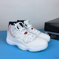 "[ Free  Shipping ] Air Jordan 11 ""Platinum Tint""378037-016 Basketball Sneaker"