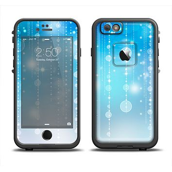 The Translucent Blue & White Jewels Apple iPhone 6 LifeProof Fre Case Skin Set