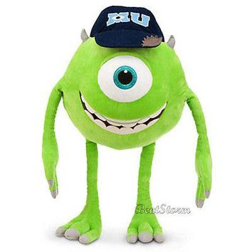 "Licensed cool Disney Store 21"" JUMBO MIKE WAZOWSKI Monsters University Plush Stuffed Doll 2013"