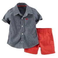 Carter's Chambray Top & Shorts Set - Baby