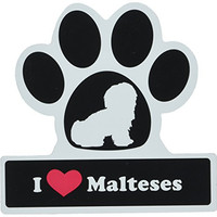 LittleGifts Maltese Paw Car Magnet