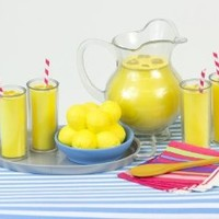 Pretend Play Food, Sophia's Lemonade Serving Set for 18 Inch Dolls, 9 Piece Set