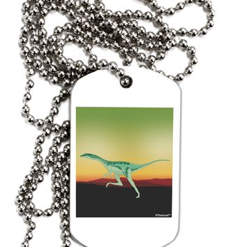 Ornithomimus Velox - Without Name Adult Dog Tag Chain Necklace by TooLoud