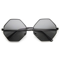 Vintage Fashion Octagonal Geometric Metal Sunglasses 8942
