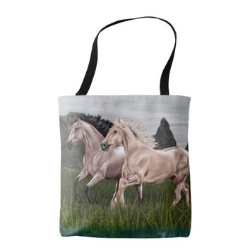 Buckskin and Palomino Horse Tote Bag