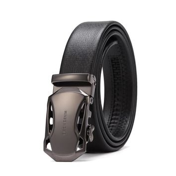 DENIM Leather Strap Male Belt Automatic Buckle Belts For Men 3.4cm Wide Men Belt Waistband