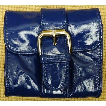 Ruby Couture Blue Camera Purse With Red Lining -- New