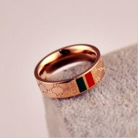 PEAPYV2 GUCCI Woman Fashion Lettering Plated Ring Jewelry