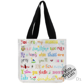 You Are My Sunshine Quote decorative New Hot, handmade bag, canvas bag, tote bag
