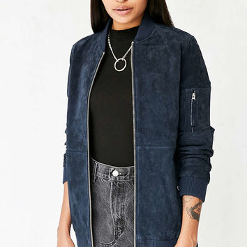 OBEY Nomad Suede Bomber Jacket - Urban Outfitters