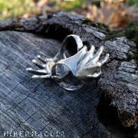 Manifestation - Hand Ring in Bronze or Silver