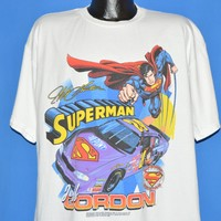 90s Jeff Gordon Superman #24 NASCAR t-shirt Extra Large