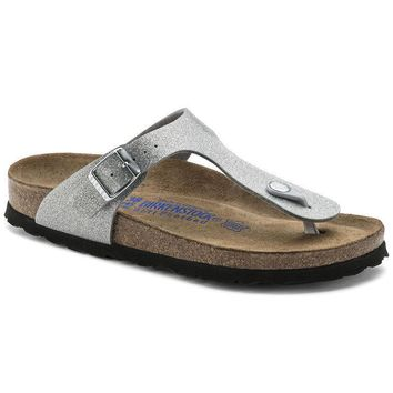 Sale Birkenstock Gizeh Soft Footbed Birko Flor Magic Galaxy Silver 0847461/0847463 San