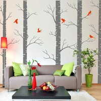 Dream birch tree forest vinyl wall decal by walldecors on Etsy