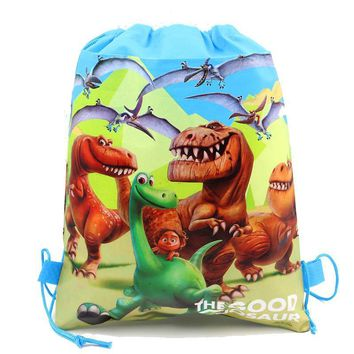12Pcs The Good Dinosaur Baby Shower Happy Birthday Party Drawstring Bags School Bag Non-Woven Fabric Backpack Kids Supplies