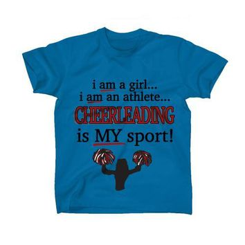 AFONiE Cheerleading Is My Sport Kids T-Shirt