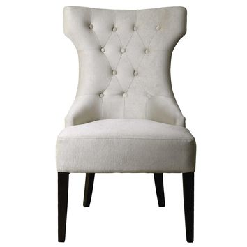 Arlette Tufted Wing Chair By Uttermost