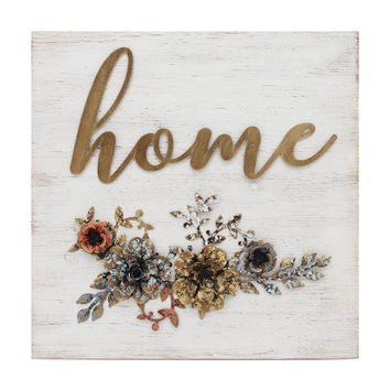 """""""Home"""" Cottage Wall Decor By Stratton Home Décor"""