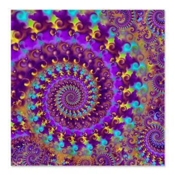 Psychedelic Purple Fractal Art Shower Curtain> Purple Fractal Art Gifts> Hippy Gift Shop Funky Hippie Gifts