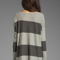 Free People Gold Rush Henley Sweater in Charcoal Combo from REVOLVEclothing.com