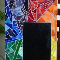 Stained Glass Rainbow Mirror Mosaic